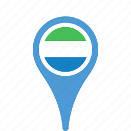 county, flag, leone, map, national, pin, sierra icon
