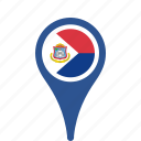 county, flag, maarten, map, national, pin, sint icon
