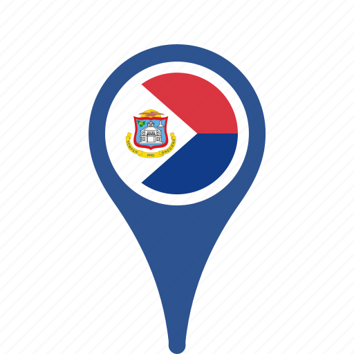 country, county, flag, maarten, map, national, pin, sint icon