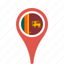county, flag, lanka, map, national, pin, sri icon