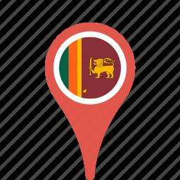 county, flag, lanka, map, national, pin, sri icon