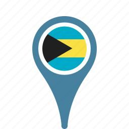 bahamas, county, flag, map, national, pin, the icon