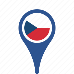 country, county, czech, flag, map, national, pin, republic, the icon