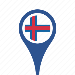 county, faroe, flag, islands, map, national, pin, the icon