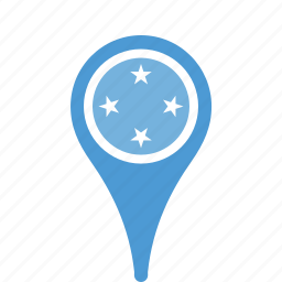county, federated, flag, map, micronesia, national, of, pin, states, the icon