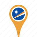 county, flag, islands, map, marshall, national, pin, the icon