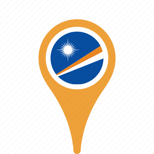 country, county, flag, islands, map, marshall, national, pin, the icon