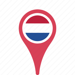 county, flag, map, national, netherlands, pin, the icon