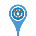 county, flag, islands, map, mariana, national, northern, pin, the icon