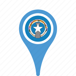 country, county, flag, islands, map, mariana, national, northern, pin, the icon