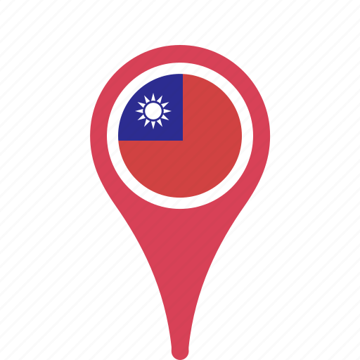china, county, flag, map, national, of, pin, republic, the icon