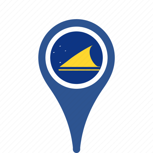 county, flag, map, national, pin, tokelau icon