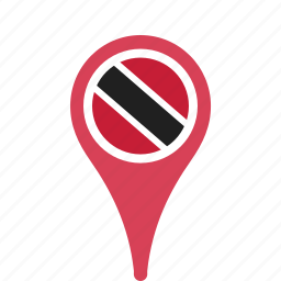 and, country, county, flag, map, national, pin, tobago, trinidad icon