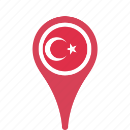 county, flag, map, national, pin, turkey icon