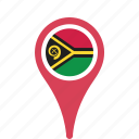 county, flag, map, national, pin, vanuatu icon