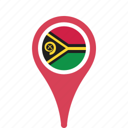 country, county, flag, map, national, pin, vanuatu icon