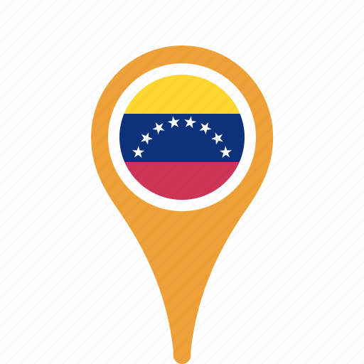 county, flag, map, national, pin, venezuela icon