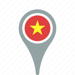 county, flag, map, national, pin, vietnam icon