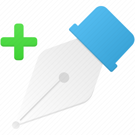 add, anchor, draw, edit, pen, point, tool icon