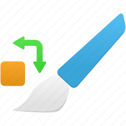 brush, color, design, draw, edit, replacement, tool icon