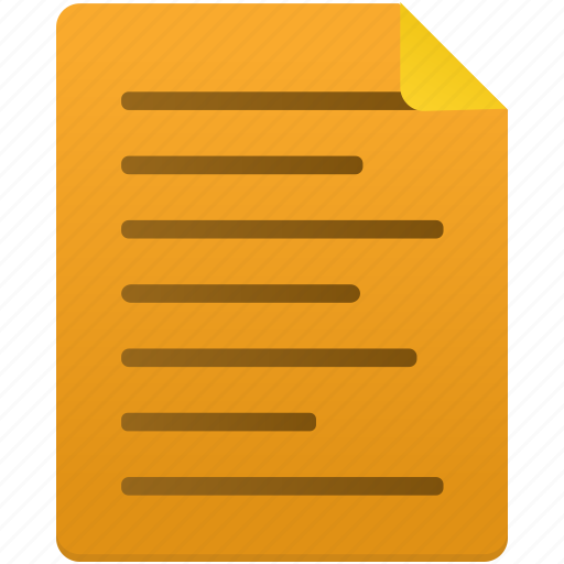 Note, document, paper, file, files, text, documents icon