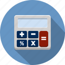 calc, calculate, calculation, calculator, math, numbers, study icon