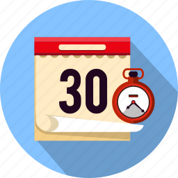 business, calendar, clock, date, event, schedule, stopwatch icon