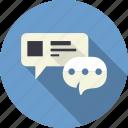 bubble, chat, communication, email, message, speech, talk