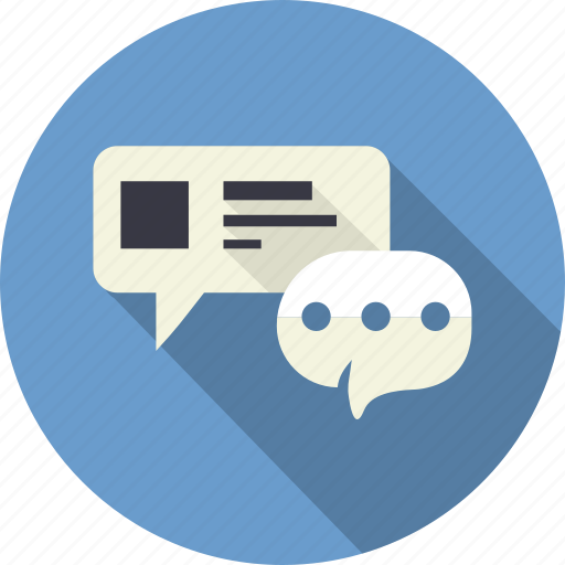 bubble, chat, communication, email, message, speech, talk icon