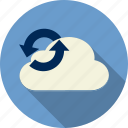 arrow, cloud computing, computing, download, forecast, internet, network icon