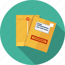 email, envelope, manila, paper, document, letter icon