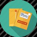 email, envelope, manila, paper, document, letter
