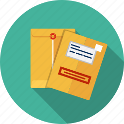 document, email, envelope, letter, manila, paper icon
