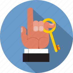 business, determination, hope, key, opportunity, solution, success icon