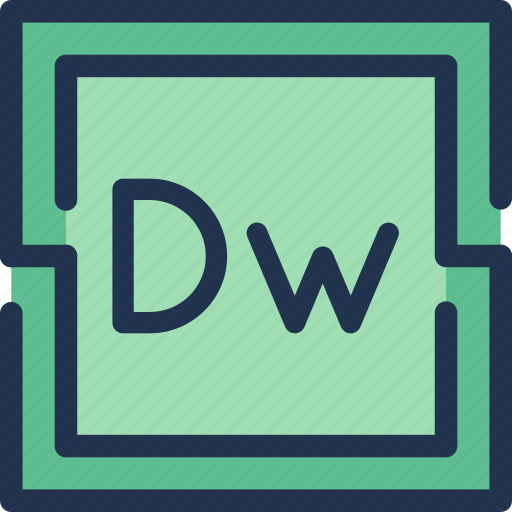 adobe, code, design, dreamweaver, web, webmaster icon