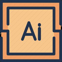 adobe, art, curve, design, graphic, illustrator icon