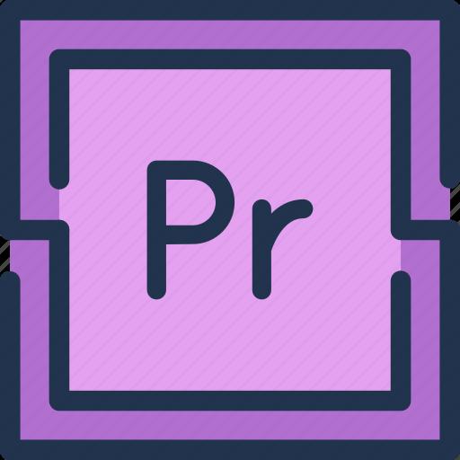 adobe, design, montage, premiere, pro, video icon