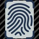 app, applications, drawer, find, finger, fingerprints icon