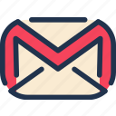 client, communication, email, gmail, google, mail, message icon