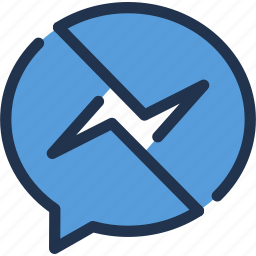 chat, communication, facebook, message, messenger, social icon