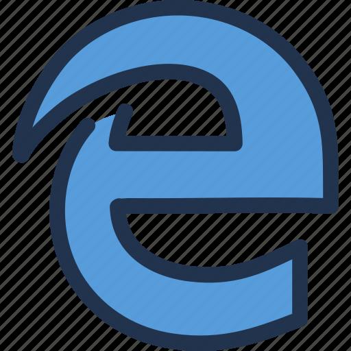 browser, edge, internet, microsoft, web, www icon
