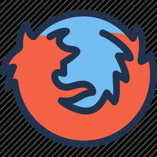 browser, firefox, internet, mozilla, web, www icon