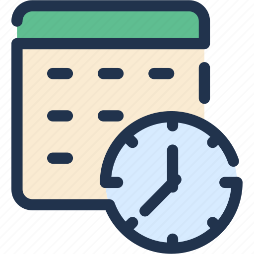 business, calendar, date, office, organizer, schedule, time icon