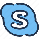 chat, communication, conversation, skype, social, video icon