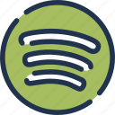 marketplace, music, sound, spotify, stream, streaming, tracklist icon