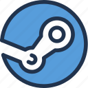 computer, games, marketplace, steam, valve, video icon