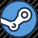 computer, games, marketplace, steam, valve, video icon
