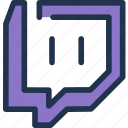 broadcast, games, live, stream, twitch, video icon