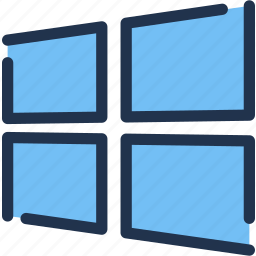 microsoft, operating, software, system, windows icon