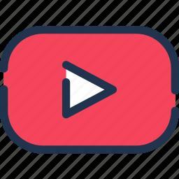 google, media, social, streaming, video, youtube icon